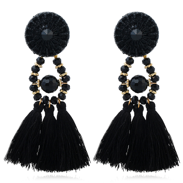 HOCOLE 2017 Brincos Women Brand Boho Drop Dangle Fringe Earring Vintage ethnic Statement Tassel earrings fashion jewelry Charms 1