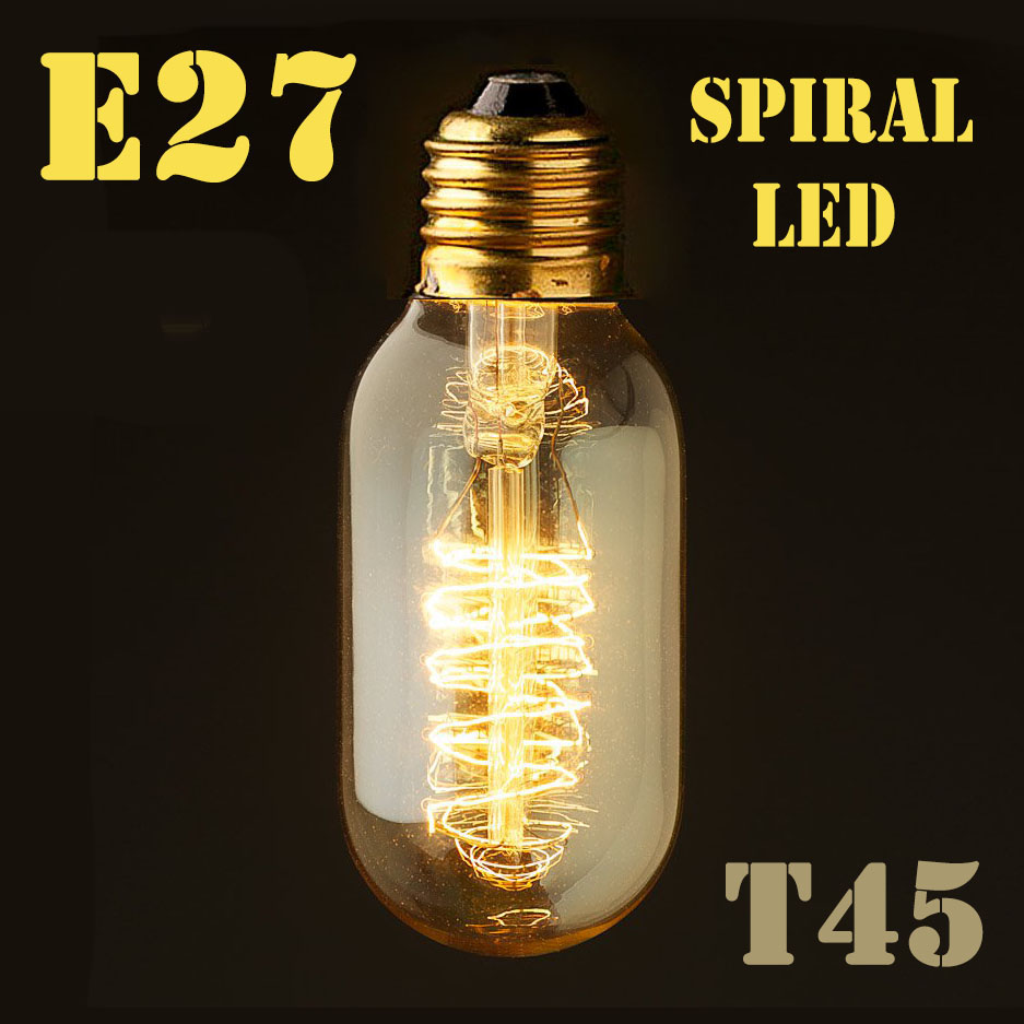 Image 5 - Dimmable E27/B22 T45 A60 ST64 G95 G125,Spiral LED Filament Light Bulb Retro Vintage Lamps Decorative Lighting-in LED Bulbs & Tubes from Lights & Lighting