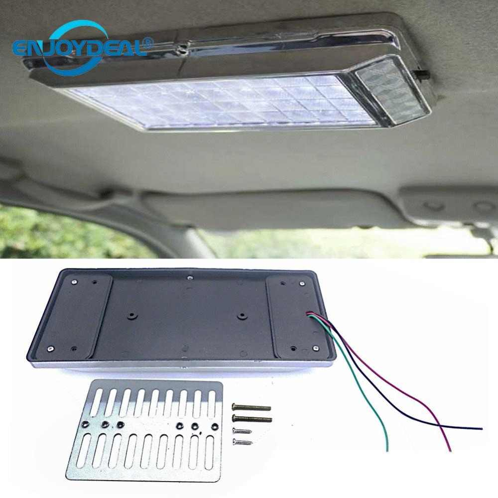 New 12V 36 LED Car Truck Vehicle Ceiling Dome Roof Lamp Rectangle Bright Interior Decoration Lamp Light White Reading Lights