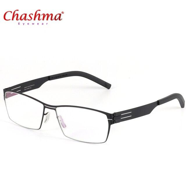 255af22d4cb98 NOVA Alta Qualidade Alemanha Único Nenhum Projeto de parafuso Óculos de  Marca Quadros Homens Óculos Óculos