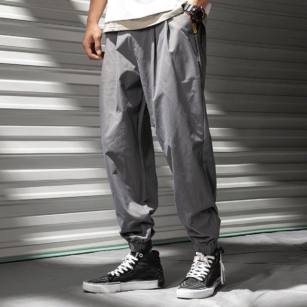 Womail Pant Polyester Outdoors Men's Casual Fashion Summer Mid Loose Apr29 Hallen Full-Mid-Waist