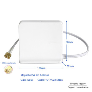 Image 2 - 698 2700 Mhz Omni kapalı Manyetik Baz lte wifi Beyaz 2x2 Mimo Anten 4G