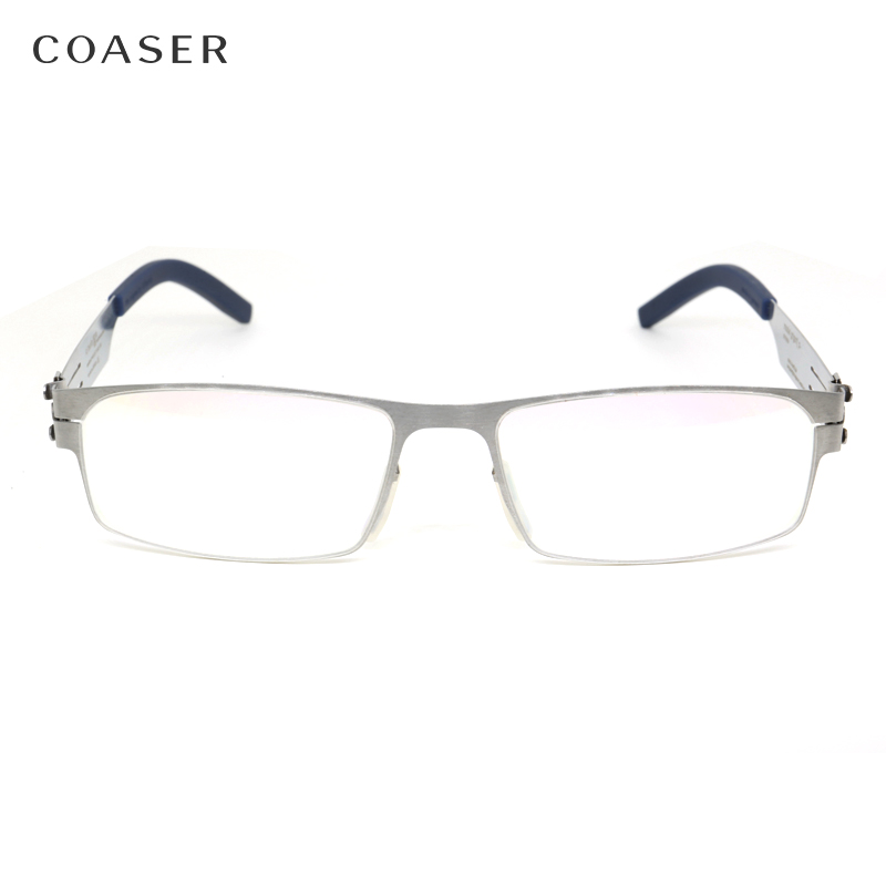 Germany Quality Stainless Steel metal frame Glasses Men Square ...