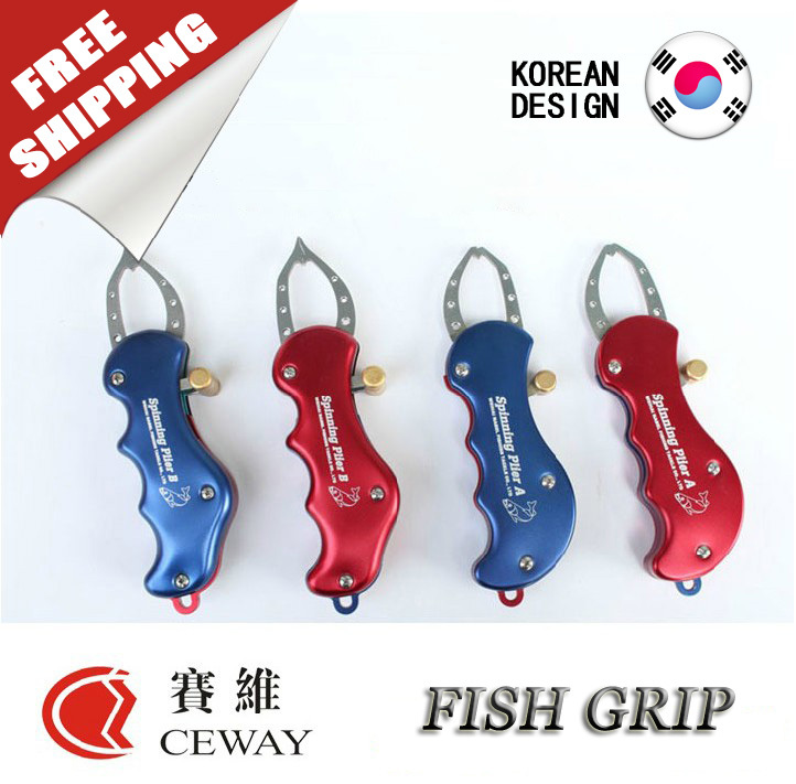 Metal Fish Lip Grip Fishing Gripper Alloy Unhook Spinning Tangen Clip - Fiske