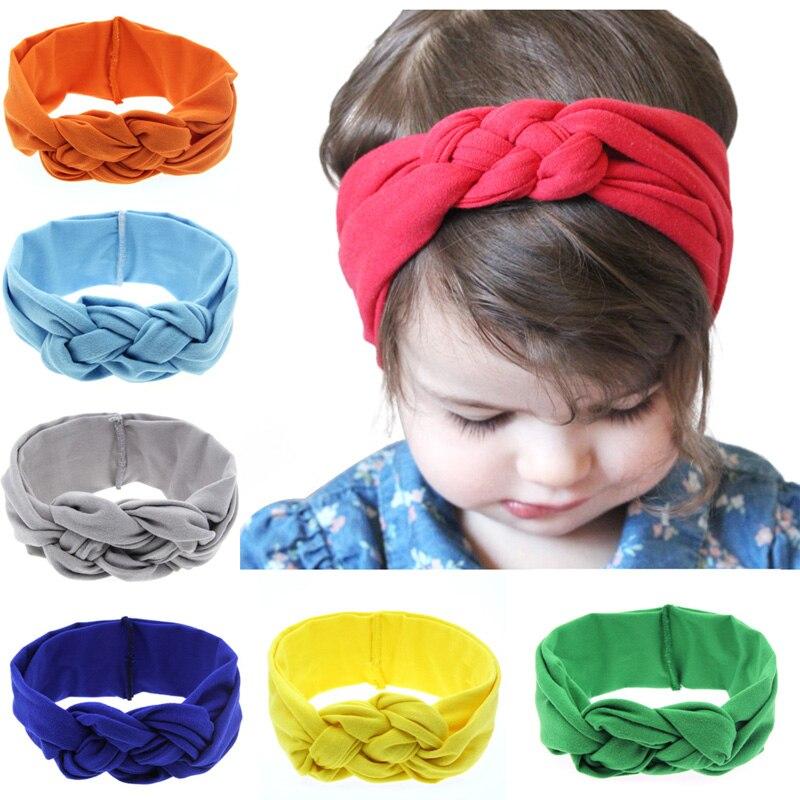 Cute Baby Kids Hair Band Headband Bow Rabbit Ear Hairbands Chinese Knot Kids Turbans Faixa Cabelo Para Bebe Hair Accessory Child