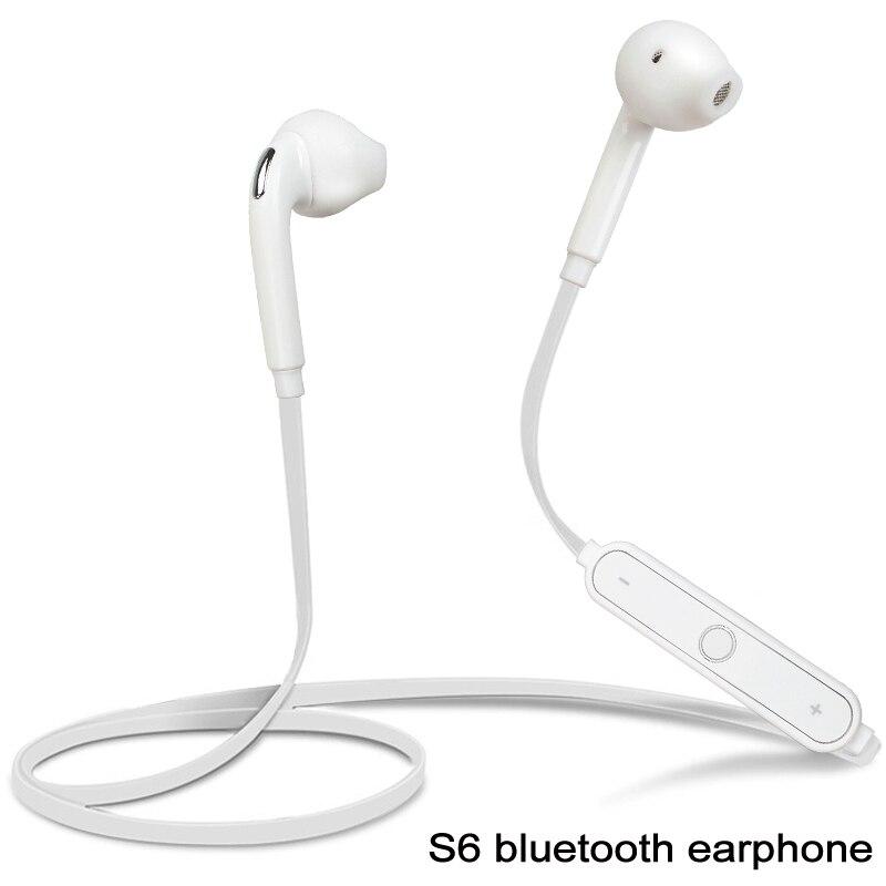 S6 Bluetooth Ecouteur Sans Fil Casque Avec Microphone Pour Samsung Galaxy Iphone HTC Sony Mobile Telephone Dans Ecouteurs Et De Electronique