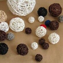 Ротанговые плетеные тростниковые шары для сада патио, свадебные, вечерние украшения, DIY для тайского стиля гирлянды