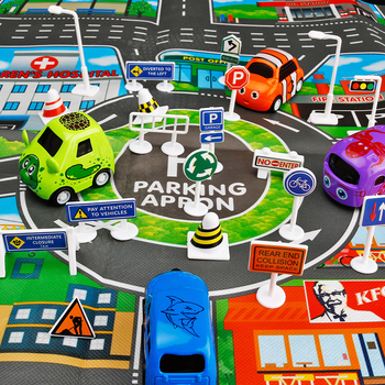 Toy car 28 PCS DIY Traffic Signs Playset Accessories Traffic Road Signs for Children Play parking view Educational toys model image