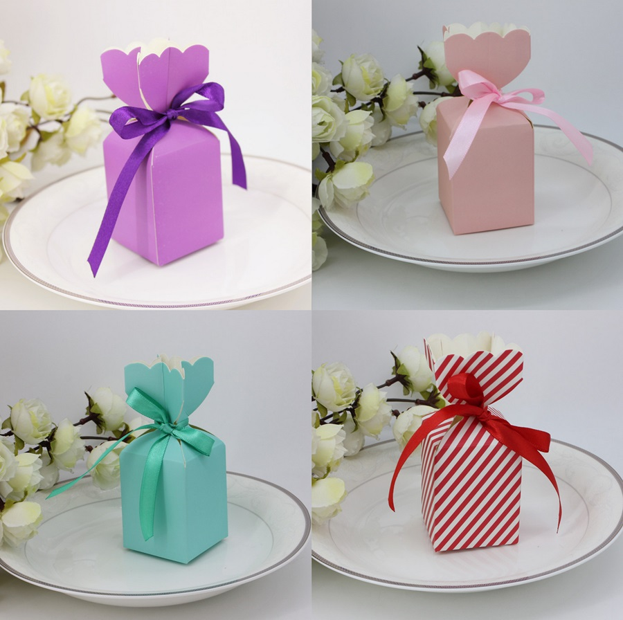 50 X European Vase Style Blue Purple Pink Red Wedding Favors Candy ...
