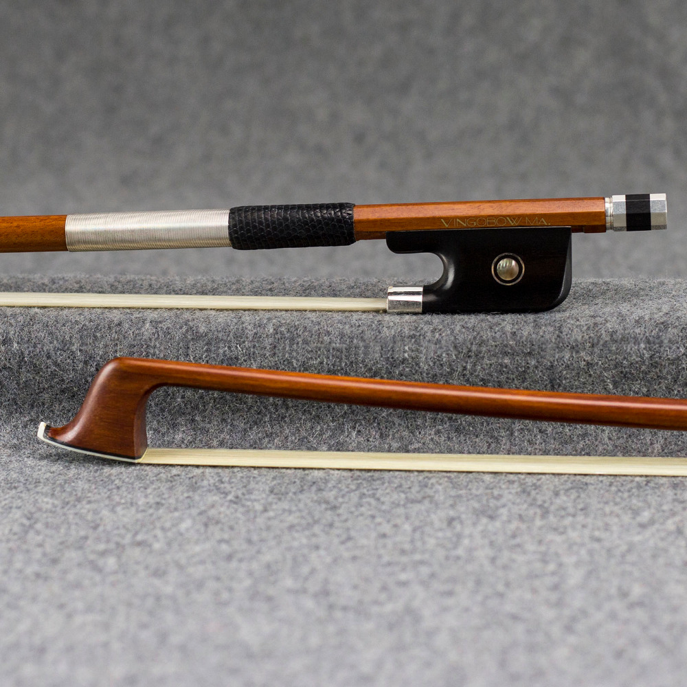 4 4 Size 870C Master Pernambuco CELLO BOW Pure Silver Mounted Ebony Frog and Screw Nice