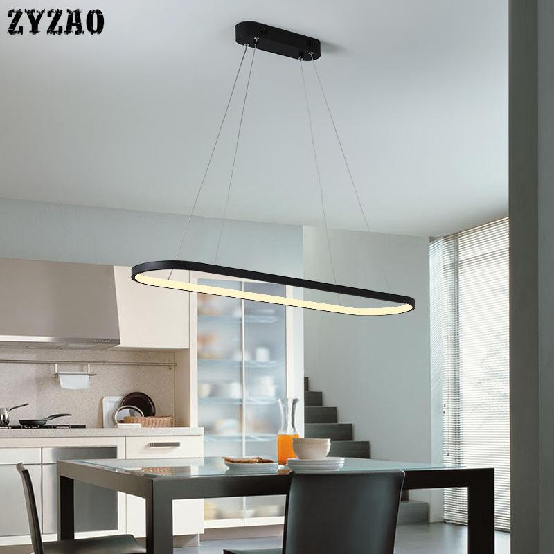Iron Ring Strip Pendant Lights Dining Room Kitchen Hanging