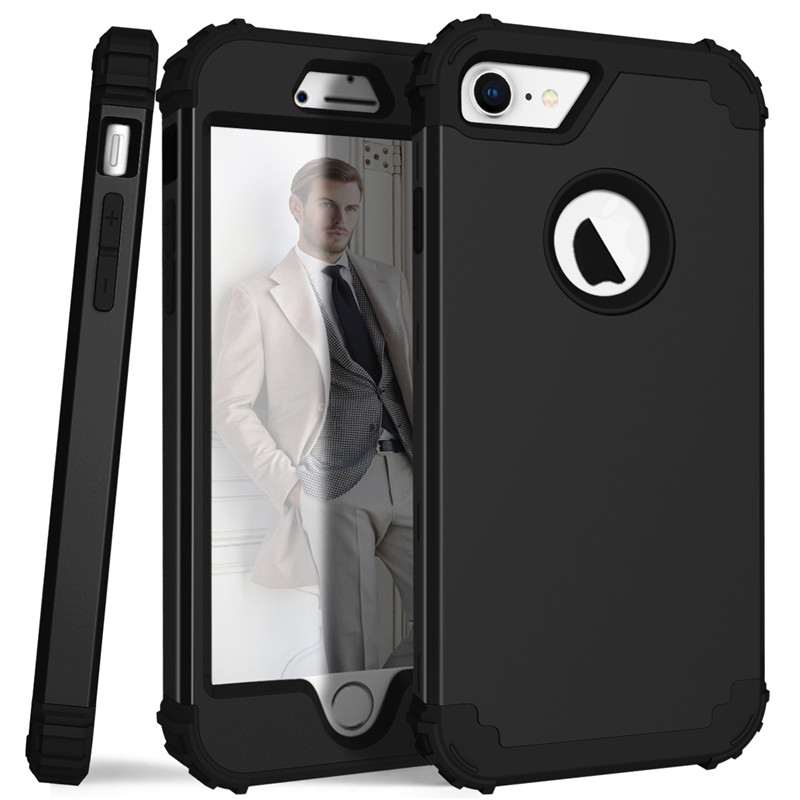 For iPhone7 Case Heavy Duty Hybrid Shockproof Armor Rugged Case For iPhone7Plus Cover Hard PC + Soft Rubber Silicone Phone Cases (10)
