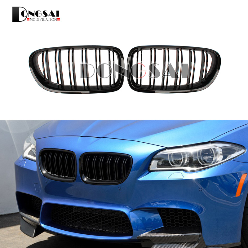 5 Series F10 Glossy Black Dual Slat M5 Style Front Kidney Grille Grill For BMW F10 520i 523i 525i 530i 535i 2010+5 Series F10 Glossy Black Dual Slat M5 Style Front Kidney Grille Grill For BMW F10 520i 523i 525i 530i 535i 2010+