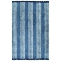 EHOMEBUY Carpet Modern Kilim Rug Cotton 120x180 cm with Pattern Blue Stripe Simple Non slip Mats Area Rug Bedroom Kitchen Rug