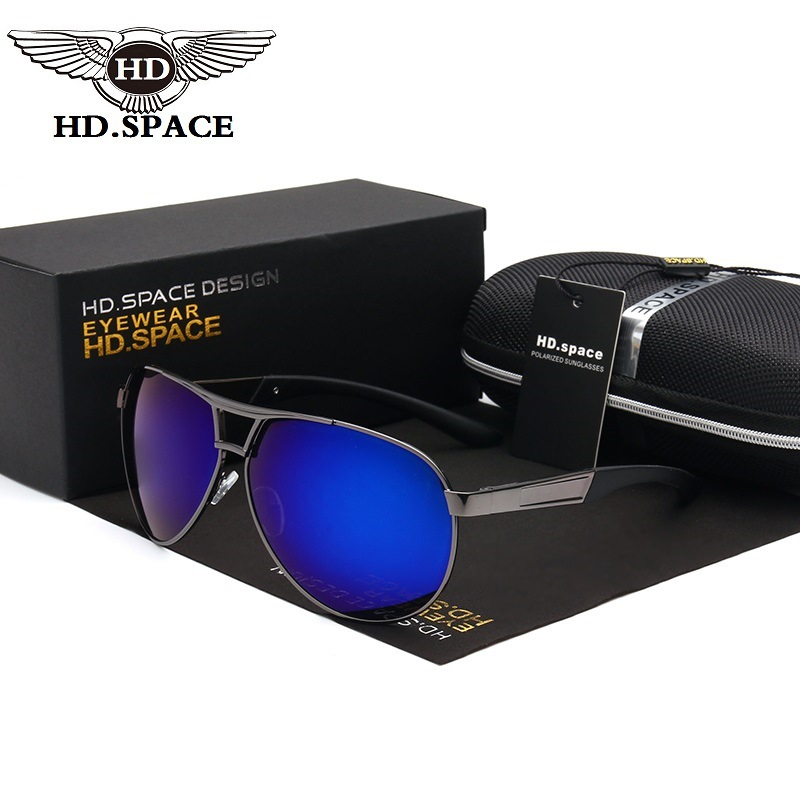 HD hombres con estilo polarizadas Gafas de sol Hipster gafas conducir Gafas Rana espejo gafas de sol Cool gafas policía lunettes ld009