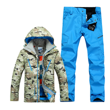 The new Gsou snow Camo ski suit suit Mens outdoor waterproof winter ski clothes