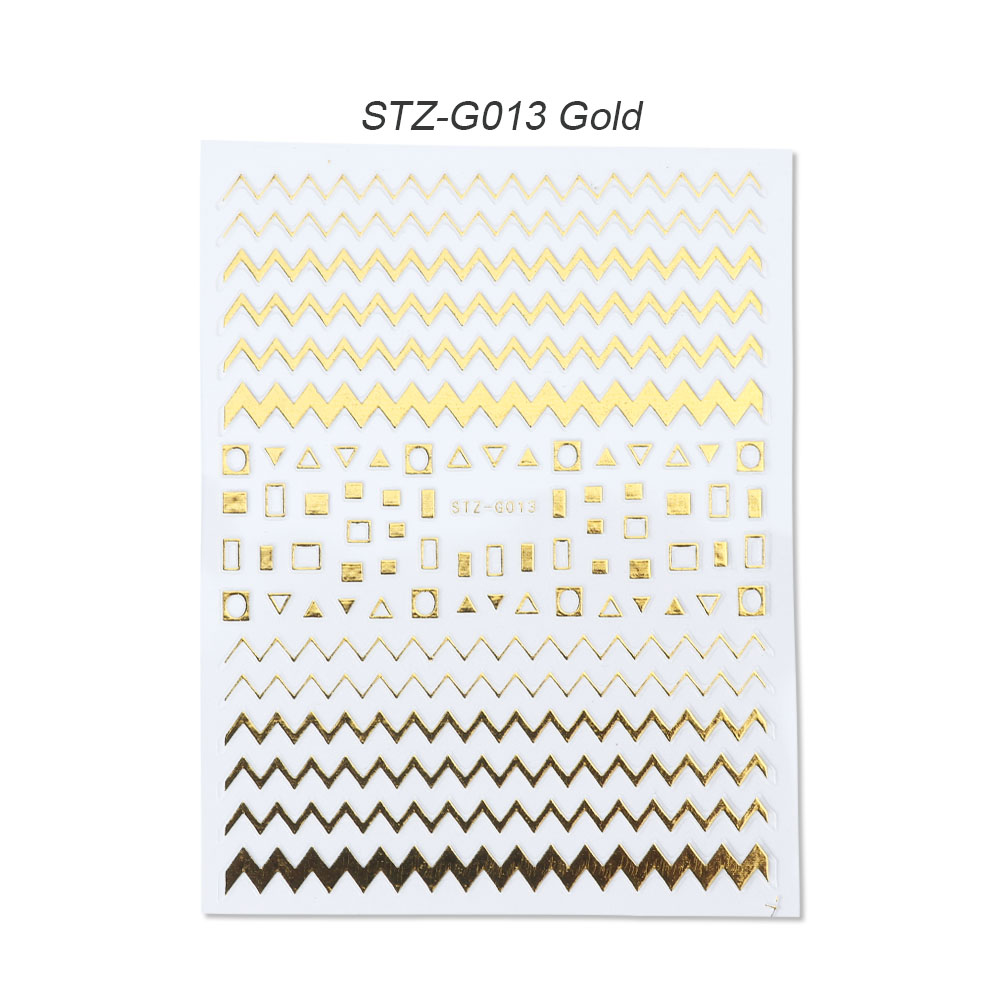 gold silver 3D stickers STZ-G013 Gold