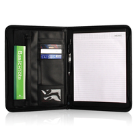 Creative Design A4 Zipped Multifunction Business Folder File Folder With A4 Writing Pad
