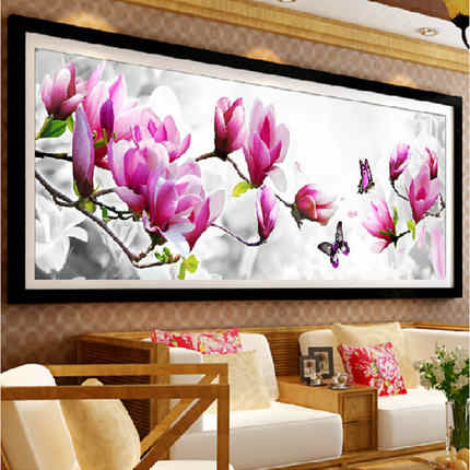 Needlework,DMC DIY Cross stitch,Embroidery kit set,Scenic Tulip Flower Cross-Stitch decoration painting wall decor Wholesale