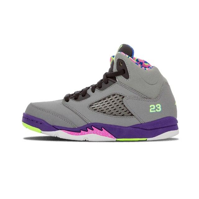 the best attitude 842cf bd434 US $52.21 25% OFF|Jordan Retro 5 Men Basketball Shoes Black Metallic Man  Sneaker Sport Shoes Discount Sneaker Hot Sale Blue Footwear-in Basketball  ...