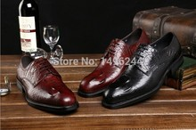 british style real crocodile embossed cowhide leather qshoes shoes mens brand business dress luxury men fashion shoe y3854-101