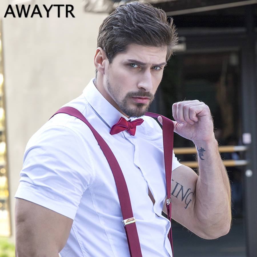AWAYTR White/Red/Yellow Color Bow Tie Formal Necktie Men's Fashion Business Wedding Bow Tie Male Dress Shirt Krawatte Legam Gift