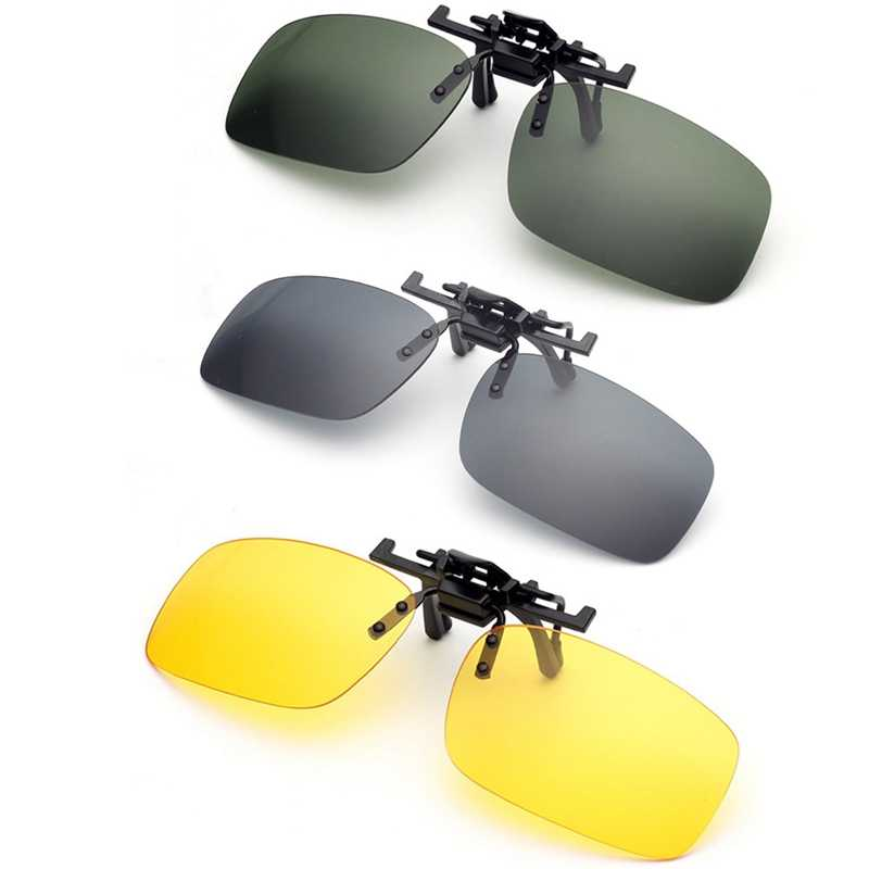 817622d9c0 Clip gafas de sol de conducción de la visión nocturna de la lente gafas de  sol