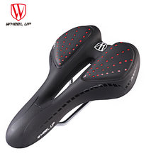WHEEL UP Memory Sponge Bike Saddle Hollow GEL Filling Bicycle PVC Leather Road Mountain Seat Thick Pad