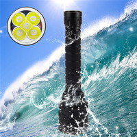 Snorkeling Underwater 100M 2500 Lm 5X XM L2 LED Diving Flashlight Waterproof Torch Lamp+2X 18650 Batteries+Charger