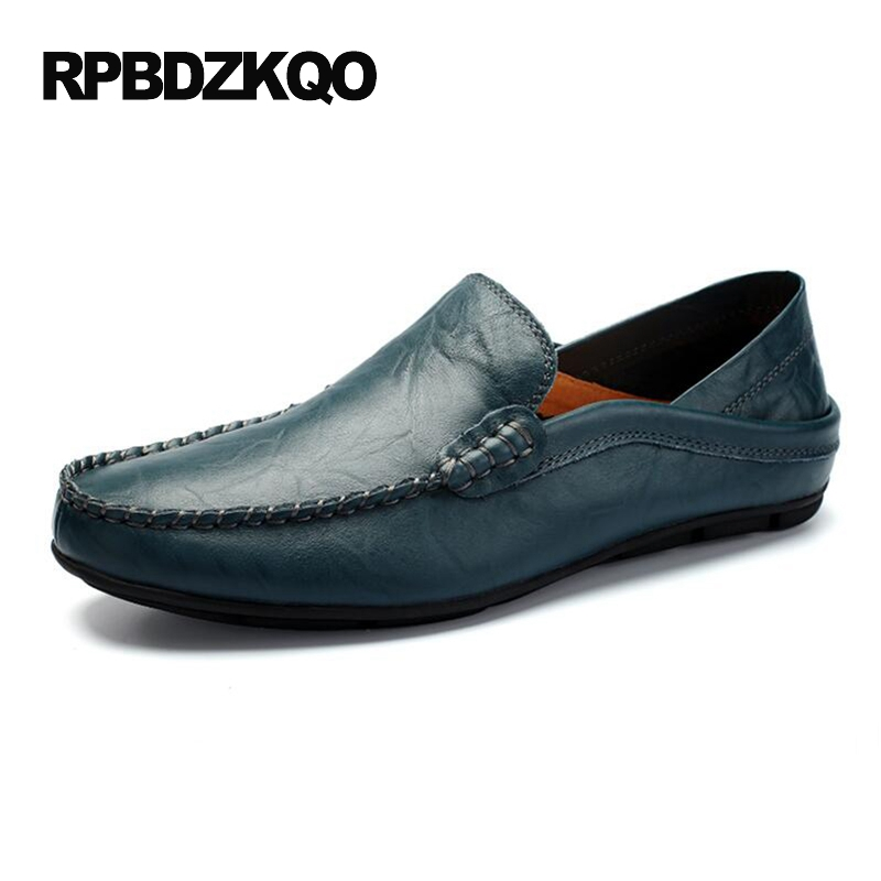 Comfort Driving Brown Slip On British Style Soft Soled Tan 2017 Spring Loafers Men Shoes Casual Leather Moccasins Hot Sale