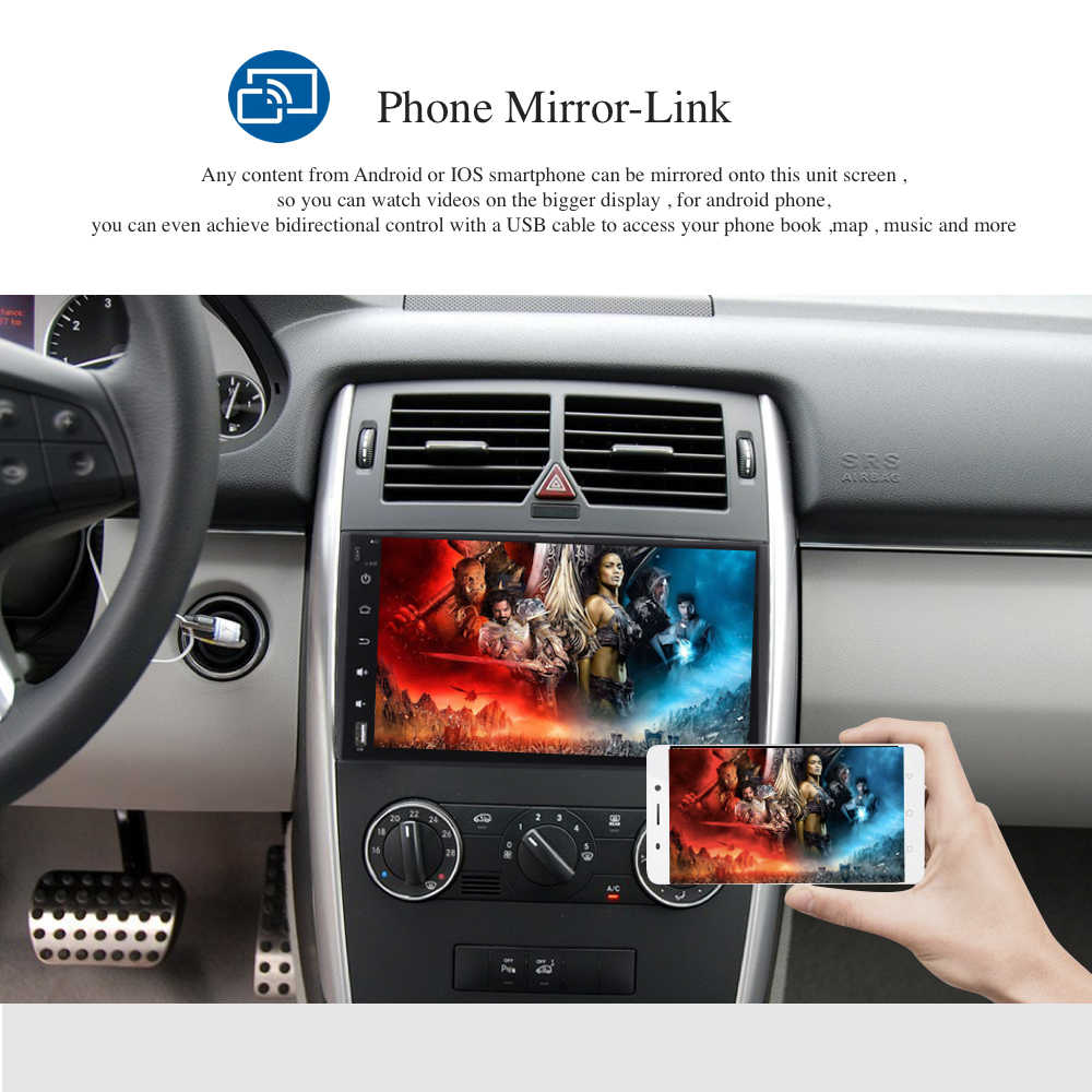 Car Multimedia for Mercedes-Benz Sprinter B200 Vito Viano W169 W245 2 din  Car Radio Android 8 0 4Gb+32Gb 8-Core Free Map WIFI BT