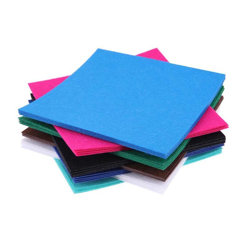 HTB1vEO1a6zuK1Rjy0Fpq6yEpFXaS 40pcs/set Non-Woven Felt Fabric Polyester Cloth Felt Fabric DIY Bundle for Sewing Doll Handmade Craft Thick Home Decor Colorful