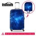 Durável bagagem capa protetora galaxy star universo espaço de impressão 3d tampa mala aplicar para 18-30 polegada caso acessórios de viagem