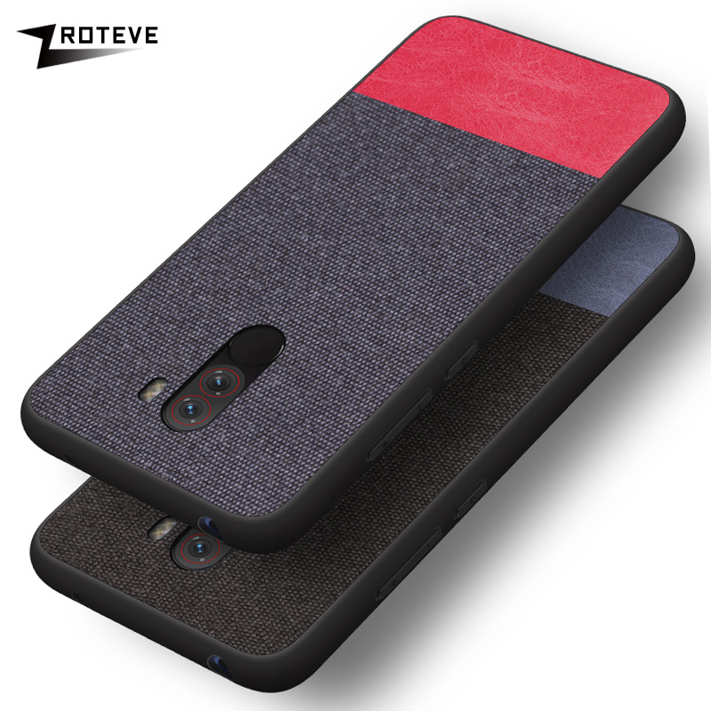 Cases For Pocophone F1 Soft Silicone TPU Canvas Back Cover Fashion Fabric Case For Xiaomi Poco Pocophone F1 Phone Case Cover
