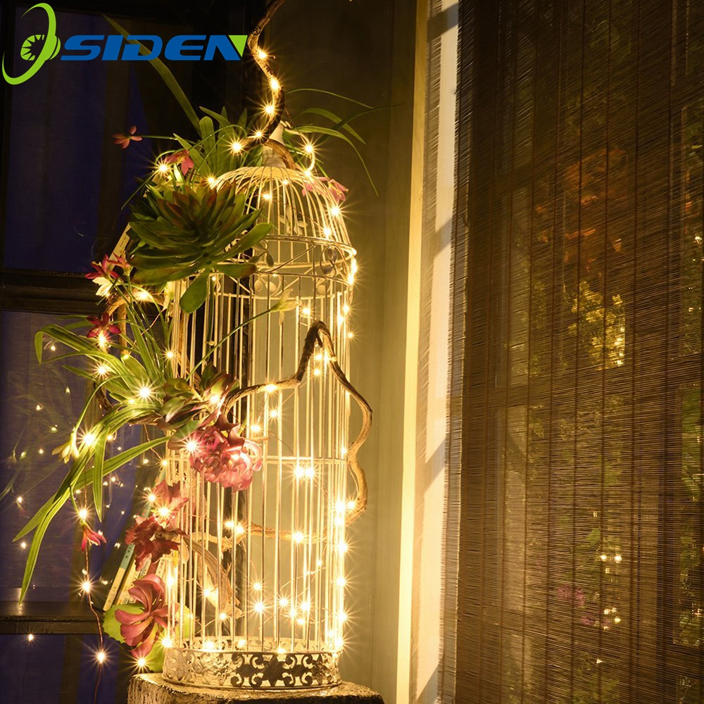 OSIDEN LED String Lights,33ft 100 LEDs Starry Decorative Lights for Bedroom ,Wedding,