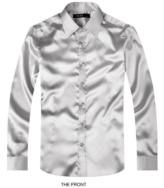 Online Buy Wholesale silver dress shirts from China silver ...