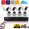 SUNCHAN Home HD 1200TVL 8CH CCTV Security Camera System 8CH DVR 1.0megapixel 720P Outdoor Day Night DIY Kit Video Surveillance