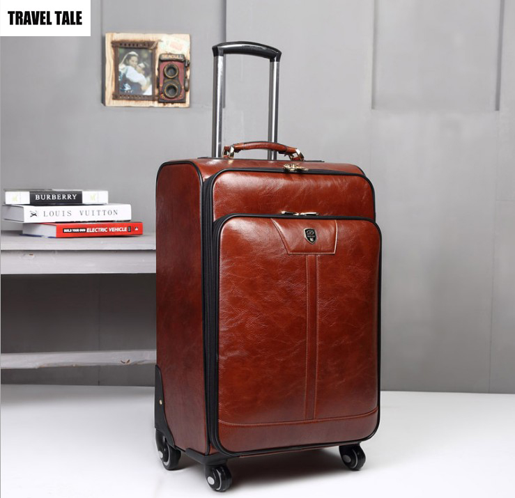 Travel Tale 18 Quot 20 Quot 24 Inch Brown Leather Rolling Luggage