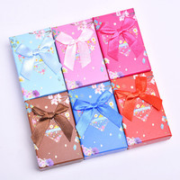 Multi Color Necklace Packaging 5x8cm Jewelry Box Fashion Jewelry Sets Display Cardboard Storage Case Earrings Ring Gift Box 32pc