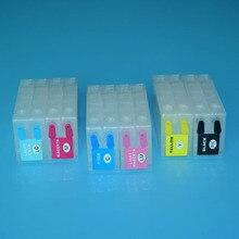 6PC para Epson PP100 cartucho de tinta rellenable para Epson PJIC1 PJIC2 PJIC3 PJIC4 PJIC5 PJIC6