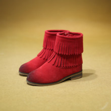 2016 Children's Shoes Tassel Boots Winter Cotton Boots Children's Shoes Martin Boots Plus Velvet Suede Leather Girls Shoes