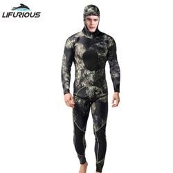 LIFURIOUS неопреновый купальный костюм 3 мм, мужской костюм для дайвинга, Раздельный купальный костюм для подводной охоты, комбинезон для серфин...