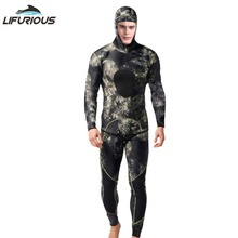 LIFURIOUS Neoprene 3mm Swim Wetsuits Mens Diving Suit Split Scuba Snorkel Swimsuit Spearfishing Surfing Jumpsuit Equipment