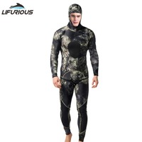 LIFURIOUS Neoprene 3mm Swim Wetsuits Men's Diving Suit Split Scuba Snorkel Swimsuit Spearfishing Surfing Jumpsuit Equipment