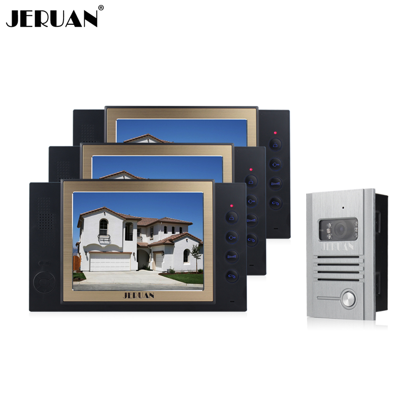 JERUAN 8`` TFT LCD video door phone intercom system doorbell speaker intercom doorphone recording metal shell outdoor jeruan new doorbell intercom doorphone wireless video door phone with memory image station outdoor night vision function