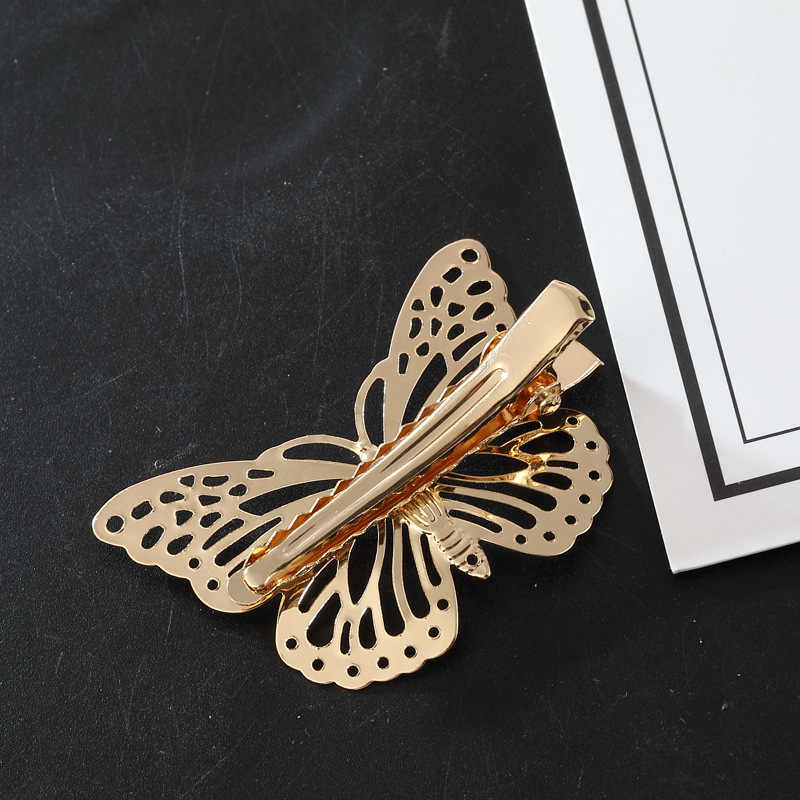 2019 Hot Sale Butterfly New Arrival Coroa Bride Circle Hair Clips Metal Holder Pieces Set Girls Plated Rose Christmas Jewelry