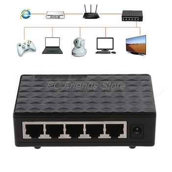 DC 5V 5 port RJ-45 10/100/1000 Gigabit Ethernet Network Switch Auto-MDI/MDIX Hub-PC Friend