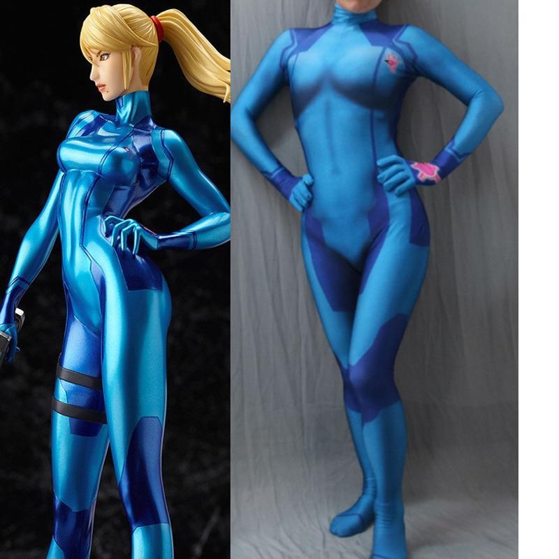 Us 60 06 9 Off Movie Coser 5 High Quality Custom Made Samus Aran Zero Suit 3d Printing Morph Girl Costume Superhero Samus Suit Samus Costume In Game