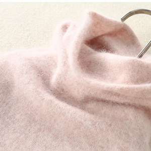 Image 1 - Donne di Inverno di autunno A Collo Alto Pullover 100% di Visone Puro Cashmere Maglie E Maglioni Lavorato A Maglia Caldo Molle Della Ragazza Vestiti S 2XL 13 Colori Ponticelli