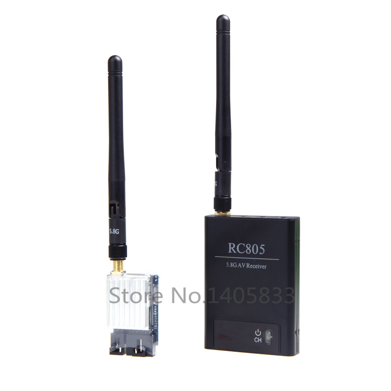 5.8G FPV 200mW AV Wireless RC Transmitter TX 5.8GHz Rx Receiver TS351+2KM RC805 Kit tx58 2w 40ch 5 8ghz wireless av transmitter rc58 40ch 5 8ghz wireless av receiver for fpv rc aircraft